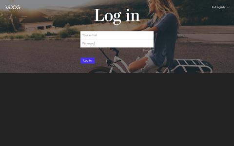 Screenshot of Login Page eprofiil.ee - Login to Voog - captured Sept. 25, 2018