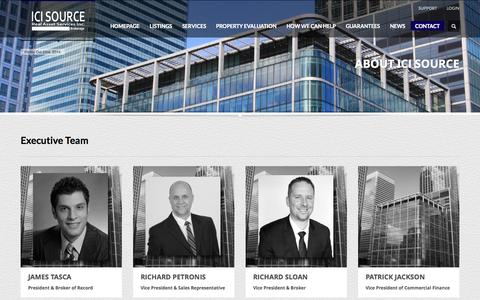 Screenshot of About Page icisource.com - About Us - ICI Source Real Asset Services Inc., Brokerage -  Providing a Complete Range of Commercial Real Estate Brokerage Services -  GTA Toronto Mississauga - captured Oct. 3, 2014