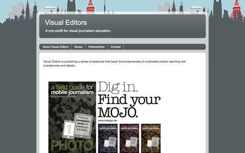 Screenshot of Home Page visualeditors.org - Visual Editors - captured Sept. 30, 2014