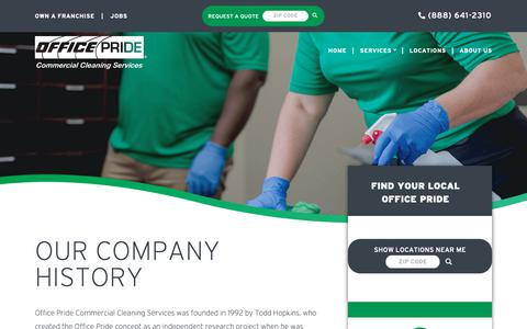 Screenshot of About Page officepride.com - About Us - Office Pride - Commercial Cleaning Services - Commercial Cleaning Services - captured Nov. 7, 2018