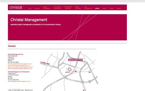 Screenshot of Contact Page christalmanagement.co.uk - Contact Christal - captured Oct. 28, 2014