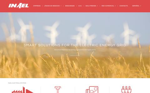 Screenshot of Home Page inael.com - Inael Electrical Systems | Advanced Materials for Energy & Enviromental Applications - captured Oct. 18, 2015