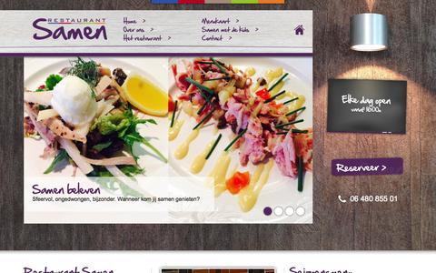 Screenshot of Home Page restaurantsamen.nl - Restaurant Samen te Wijchen | Samen genieten - captured Aug. 15, 2015