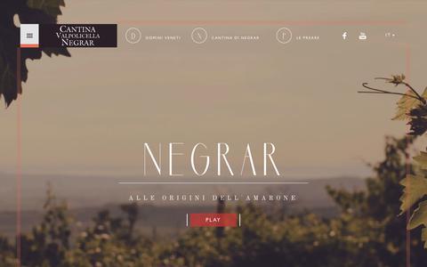 Screenshot of Home Page Privacy Page cantinanegrar.it - Cantina Valpolicella Negrar - captured June 27, 2017