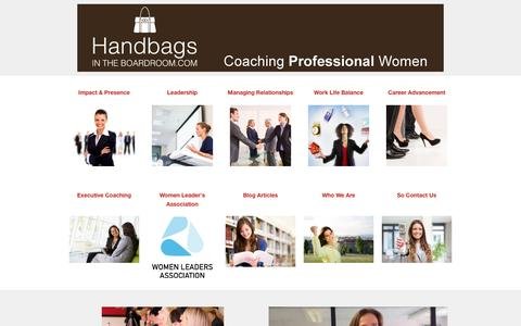 Screenshot of Home Page handbagsintheboardroom.com - Handbags In The Boardroom � Handbags in the Boardroom - captured Jan. 17, 2016
