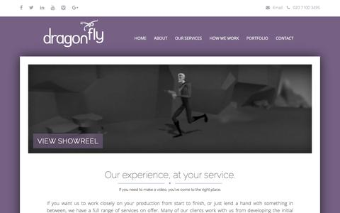 Screenshot of Services Page dragonfly.co.uk - Our Services | Digital Video Service | Dragonfly - captured Feb. 9, 2016