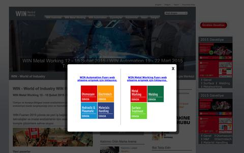Screenshot of Home Page win-fair.com - WIN - World of Industry - captured Jan. 26, 2015