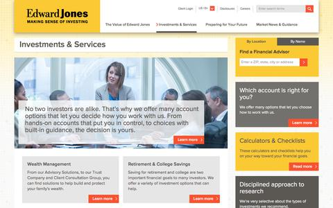 Investments & Services | Edward Jones