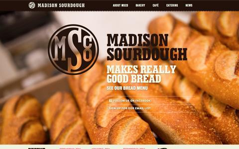 Screenshot of Home Page madisonsourdough.com captured Sept. 30, 2014