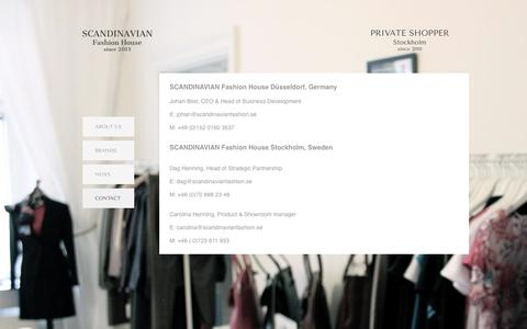 Screenshot of Contact Page scandinavianfashion.se - Contact - captured Oct. 4, 2014