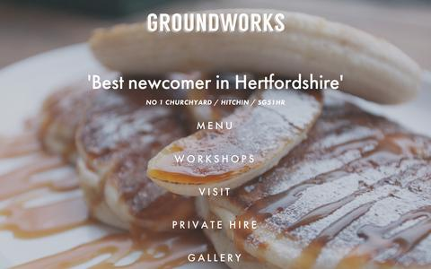 Screenshot of Home Page thegroundworks.co.uk - THE GROUNDWORKS - captured Jan. 29, 2016
