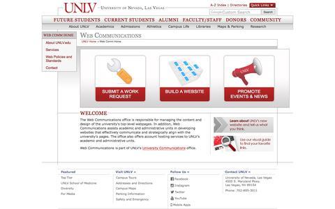 Web Communications | University of Nevada, Las Vegas