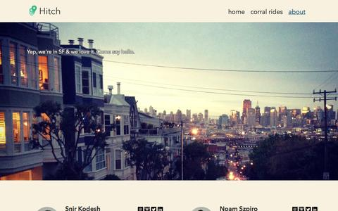 Screenshot of About Page takehitch.com - Hitch - Fun & Affordable - captured Sept. 13, 2014