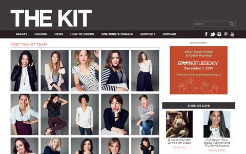 Screenshot of Team Page thekit.ca - The Kit Team - The Kit - captured Nov. 23, 2015