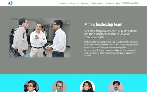 Screenshot of Team Page mithi.com - Meet the Mithi team - Mithi - captured Jan. 14, 2019