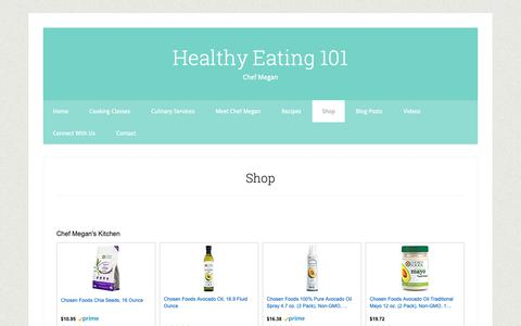Screenshot of Products Page healthyeating101.com - Shop - captured Nov. 4, 2018