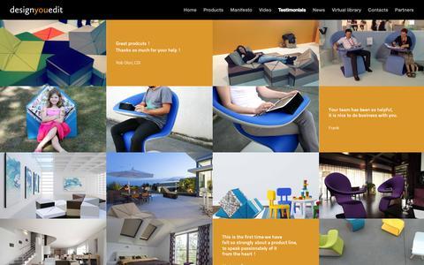 Screenshot of Testimonials Page designyouedit.com - Testimonials - Design You Edit - captured Sept. 30, 2014