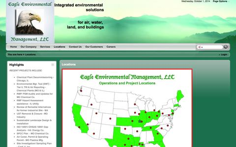 Screenshot of Locations Page eaglemgt.com - Eagle - Locations - captured Oct. 1, 2014