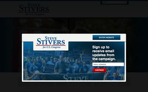 Screenshot of Home Page stevestivers.com - Steve Stivers for Ohio's 15th Congressional District | Steve Stivers for U.S. Congress - captured June 18, 2016