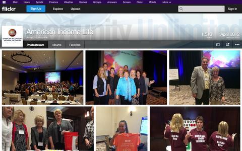 Screenshot of Flickr Page flickr.com - Flickr: AmericanIncomeLife's Photostream - captured Oct. 22, 2014
