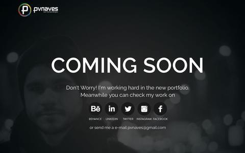 Screenshot of Home Page pvnaves.com - Pvnaves web designer e freela - captured Jan. 2, 2017