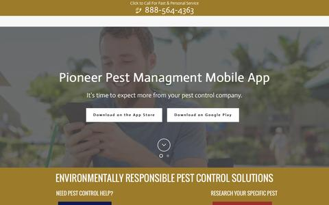Screenshot of Home Page pioneerpest.com - Certified Pest Control - Over 300 Positive Reviews - Portland OR Vancouver WA - captured Nov. 7, 2016