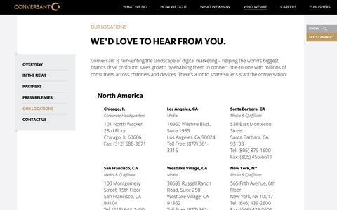 Our Locations | Conversant | Conversant