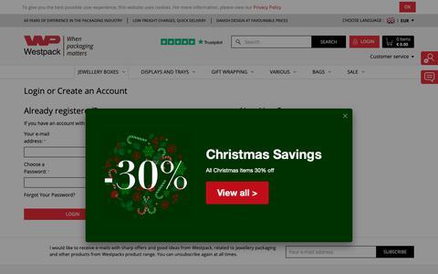 Screenshot of Login Page westpack.com - Customer Login - captured Dec. 20, 2018
