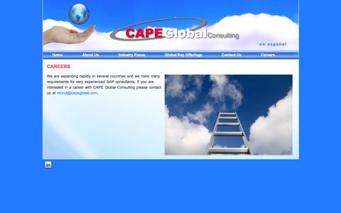Screenshot of Jobs Page capeglobal.com - Careers   Cape Global - captured Oct. 1, 2014