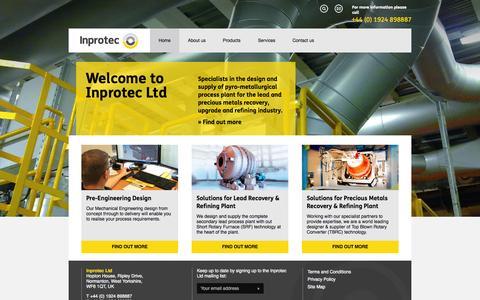 Screenshot of Home Page inprotec.co.uk - Inprotec - captured Sept. 1, 2015