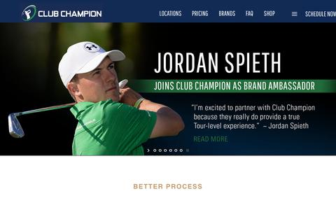 Screenshot of Home Page clubchampiongolf.com - Club Champion is the #1 premium golf club fitter nationwide | Home - captured Dec. 14, 2018
