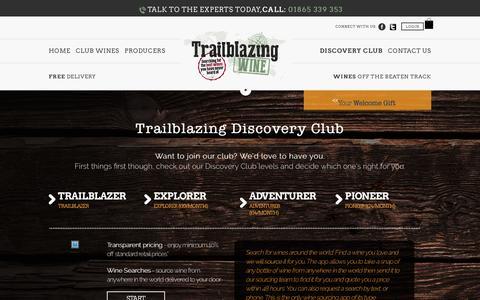 Screenshot of Signup Page trailblazingwine.com - Trailblazingwine - captured Aug. 17, 2016
