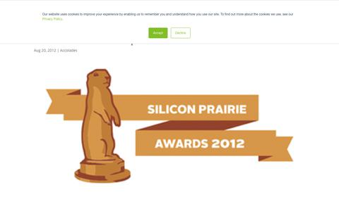 Screenshot of Press Page lockpath.com - Silicon Prairie News Startup Executive of the Year Finalist - Lockpath.com - captured Dec. 16, 2019