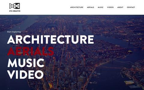 Screenshot of Home Page ctccreative.com - CTC CREATIVE - captured Jan. 22, 2016