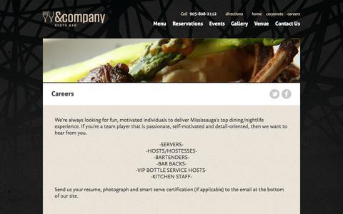 Screenshot of Jobs Page andcompany.ca - Careers | & Company - captured Oct. 7, 2014