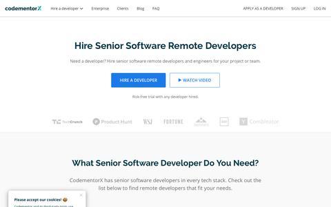 Screenshot of Developers Page codementor.io - Hire Senior Software Developers | CodementorX - captured July 14, 2019