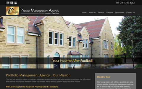 Screenshot of Home Page pmagency.co.uk - PMA Agency - Portfolio Management Agency Manchester - captured Oct. 2, 2014