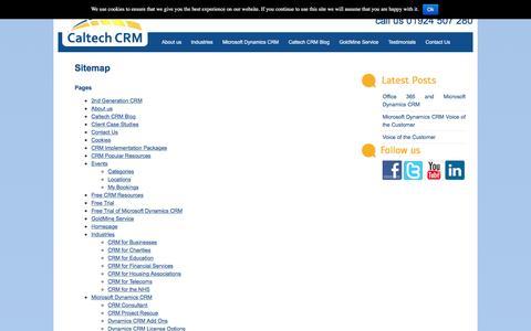 Screenshot of Site Map Page caltech.co.uk - Sitemap   Caltech CRM - captured Oct. 17, 2016