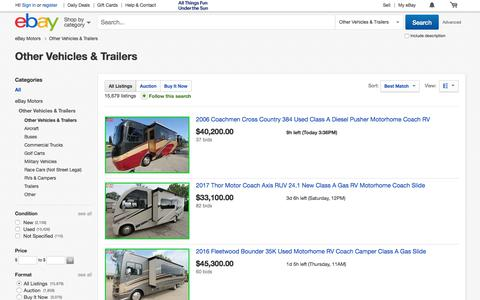 Other Vehicles & Trailers | eBay