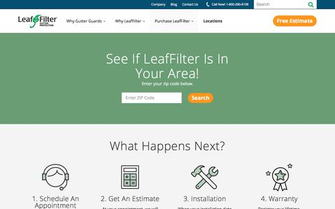 Screenshot of Locations Page leaffilter.com - Locations   LeafFilter - captured Jan. 7, 2018
