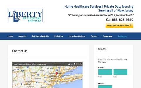 Screenshot of Contact Page lhshomecare.org - Home Care Agencies New Jersey - captured Oct. 27, 2014
