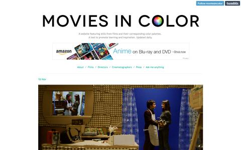 Screenshot of Home Page moviesincolor.com - Movies In Color - captured March 4, 2016