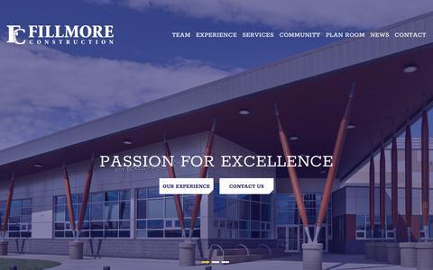 Screenshot of Home Page fillmoreconstruction.com - Edmonton Alberta Construction Company | Fillmore Construction - captured Aug. 11, 2018