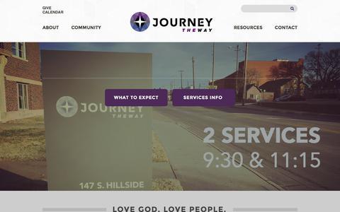 Screenshot of Home Page journeytheway.com - Journey the Way: Wichita, KS - captured Jan. 9, 2016