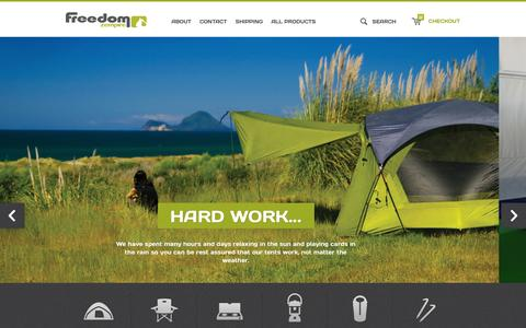 Screenshot of Press Page freedomcamping.co.nz - Welcome to Freedom  - Freedom Zempire - captured Oct. 8, 2014