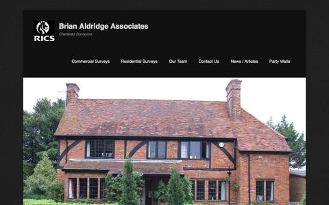 Screenshot of Home Page About Page Menu Page baassociates.co.uk - Property Surveys: Party Wall Advice: Berkshire - captured Oct. 5, 2014