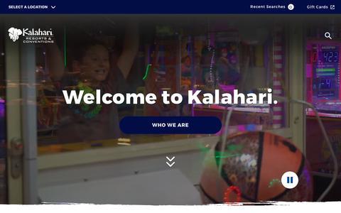 Screenshot of About Page kalahariresorts.com - About Us - captured Sept. 23, 2018