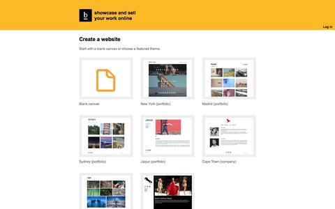 Screenshot of Trial Page berta.me - Create a website - berta.me - captured Oct. 20, 2016