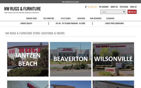 Screenshot of Locations Page nwrugs.com - NW Rugs & Furniture Locations - captured Sept. 30, 2018