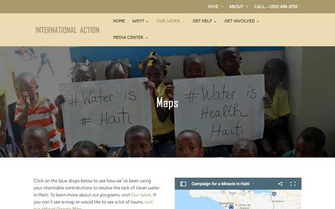 Screenshot of Maps & Directions Page haitiwater.org - Maps|Haiti Water - captured Oct. 12, 2018